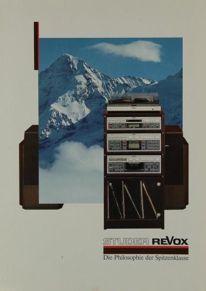Revox Die Philosophie der Spitzenklasse Prospekt / Katalog