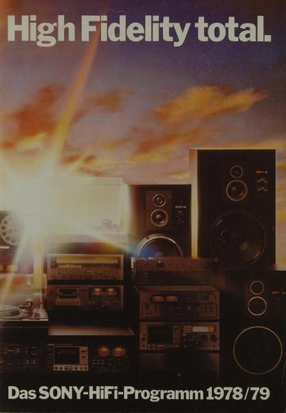 Sony High Fidelity Total 1978/79 Prospekt / Katalog