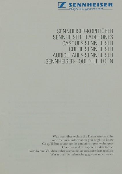 Sennheiser Sennheiser-Kopfhörer Prospekt / Katalog