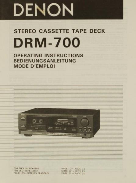 Denon DRM-700 Bedienungsanleitung