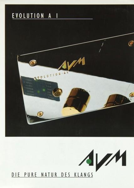 AVM Evolution A 1 Prospekt / Katalog