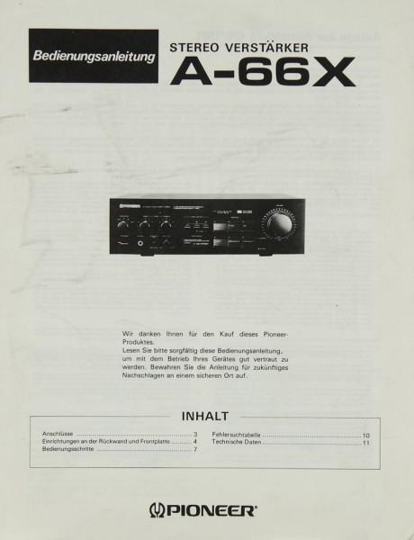 Pioneer A-66 X Bedienungsanleitung