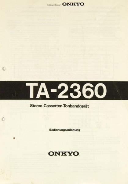 Onkyo TA-2360 Bedienungsanleitung