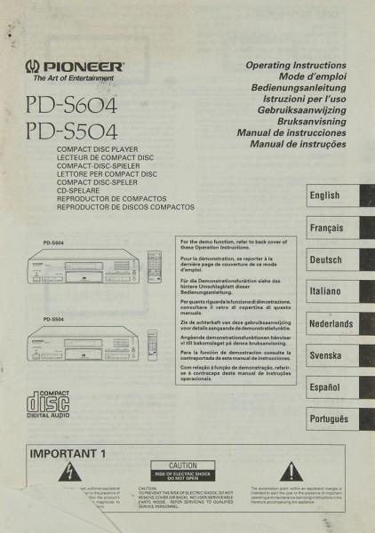 Pioneer PD-S 604 / 504 Bedienungsanleitung