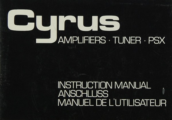 Mission / Cyrus Cyrus One / Cyrus Two / PSX Bedienungsanleitung