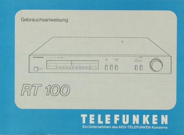 Telefunken RT 100 Bedienungsanleitung
