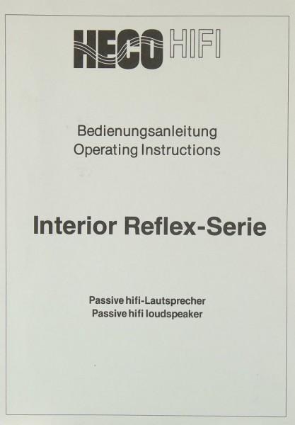 Heco Interior Reflex-Serie Bedienungsanleitung