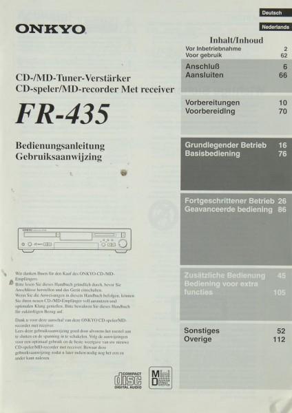 Onkyo FR-435 Bedienungsanleitung