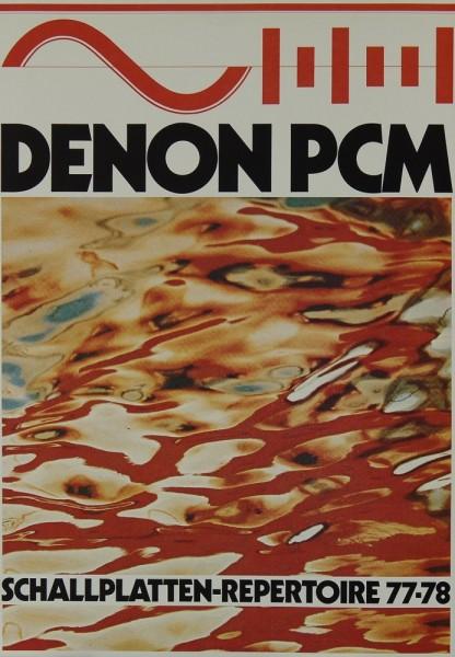 Denon PCM Schallplatten-Repertoire 77-78 Prospekt / Katalog