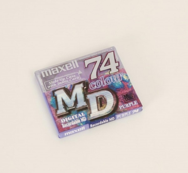 Maxell MD-74 Minidisc purple