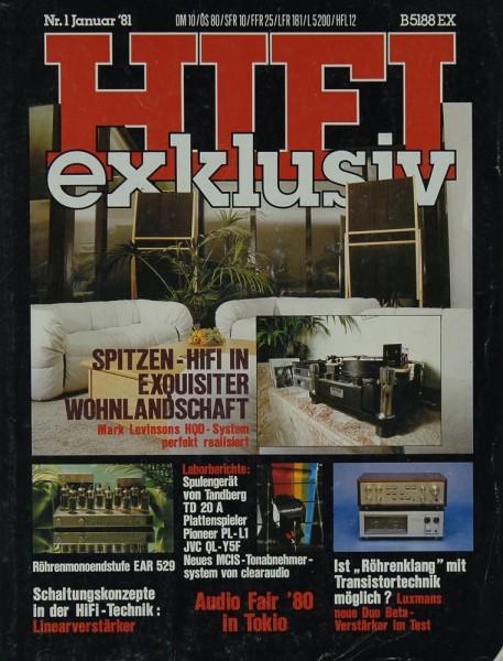 Hifi Exklusiv 1/1981 Zeitschrift