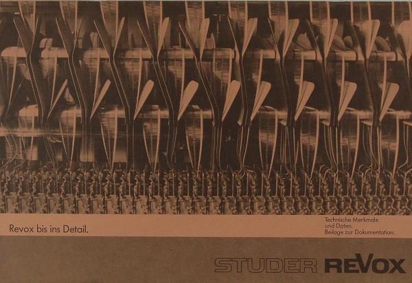 Revox Revox bis ins Detail Prospekt / Katalog