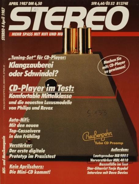 Stereo 4/1987 Zeitschrift