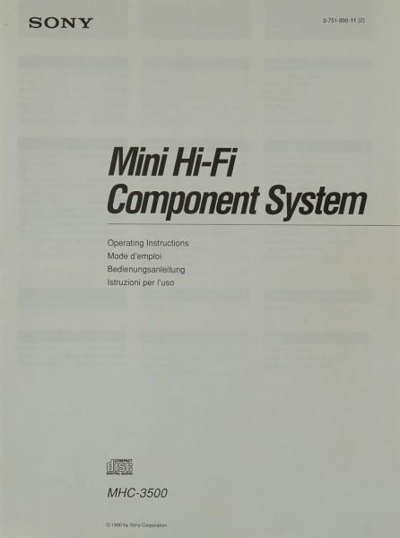 Sony MHC-3500 Bedienungsanleitung
