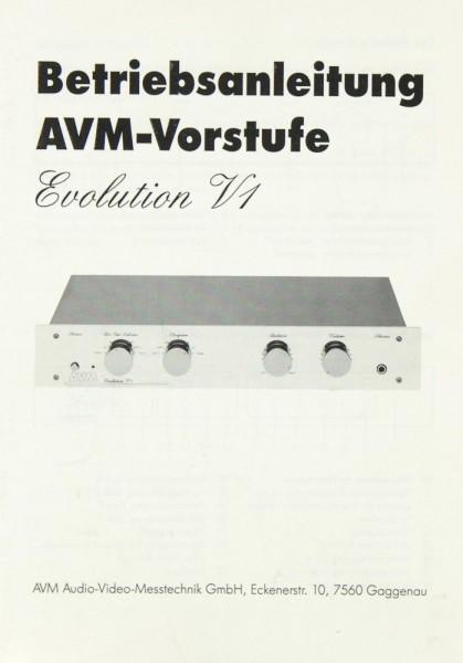 AVM Evolution V 1 Bedienungsanleitung
