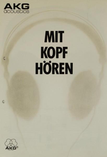 AKG acoustics Mit Kopf hören Prospekt / Katalog