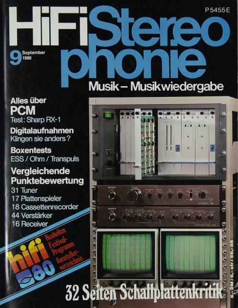Hifi Stereophonie 9/1980 Zeitschrift