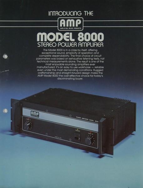 AMP Model 8000 Prospekt / Katalog