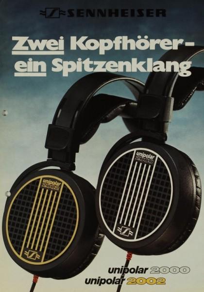 Sennheiser Unipolar 2000 / Unipolar 2002 Prospekt / Katalog