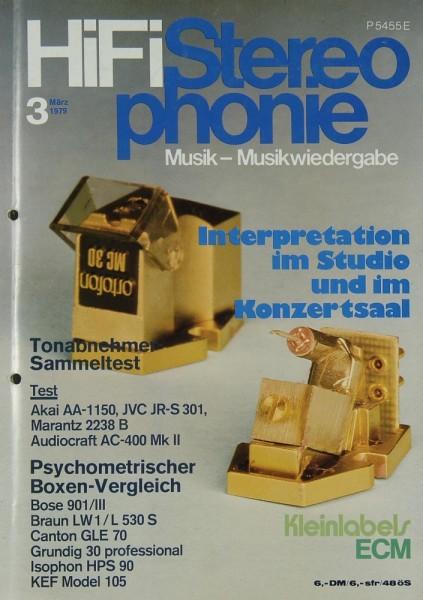 Hifi Stereophonie 3/1979 Zeitschrift