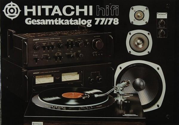 Hitachi Gesamtkatalog 77/78 Prospekt / Katalog