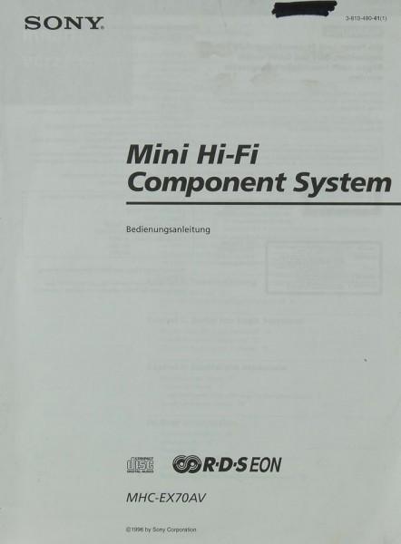 Sony MHC-EX 70 AV Bedienungsanleitung