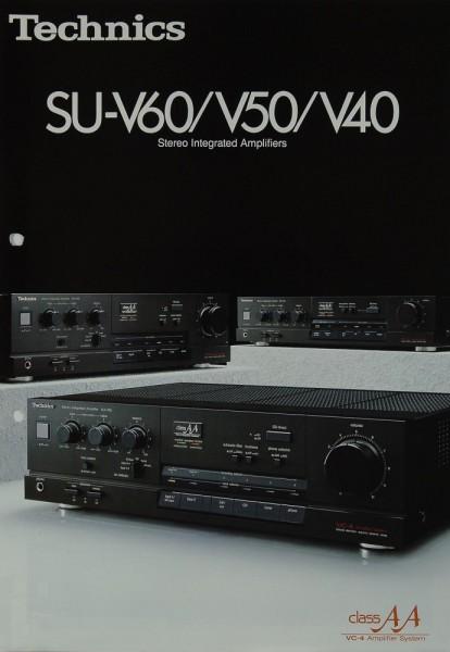 Technics SU-V 60 / V 50 / V 40 Prospekt / Katalog