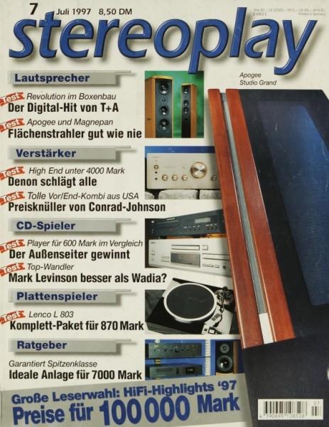 Stereoplay 7/1997 Zeitschrift