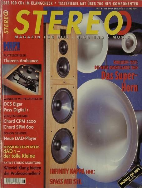 Stereo 6/1998 Zeitschrift