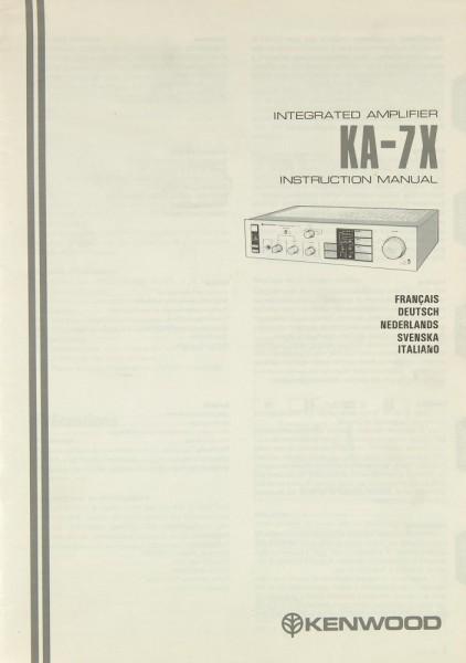 Kenwood KA-7 X Bedienungsanleitung