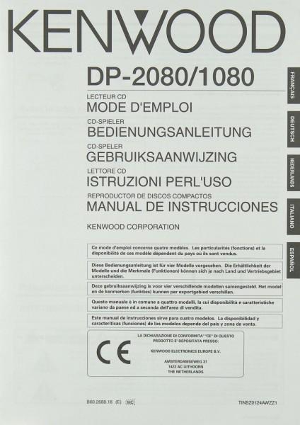 Kenwood DP-2080 / DP-1080 Bedienungsanleitung