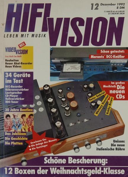 Hifi Vision 12/1992 Zeitschrift
