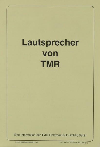 TMR Lautsprecher von TMR Prospekt / Katalog