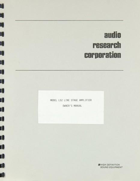 Audio Research LS 2 Bedienungsanleitung