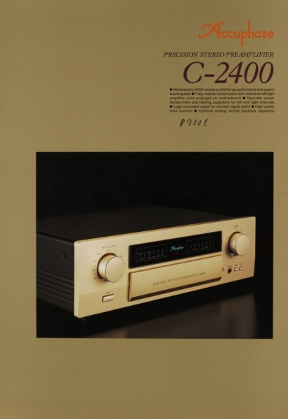 Accuphase C-2400 Prospekt / Katalog