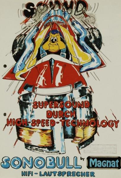 Magnat Sonobull - Supersound durch High-Speed-Technology Prospekt / Katalog