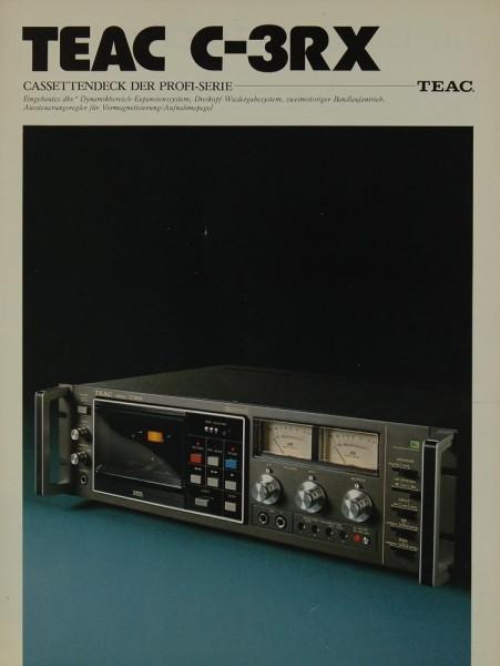 Teac C-3RX Prospekt / Katalog