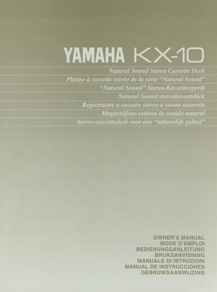 Yamaha KX-10 Bedienungsanleitung