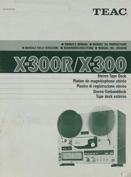 Teac X-300 R / X-300 Bedienungsanleitung