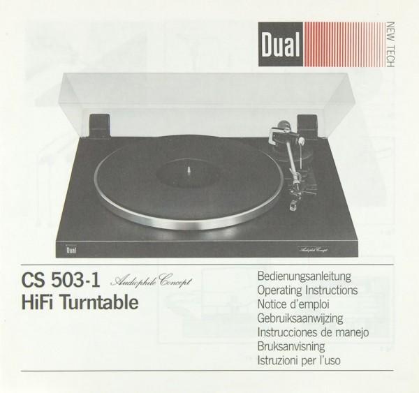 Dual CS 503-1 Bedienungsanleitung