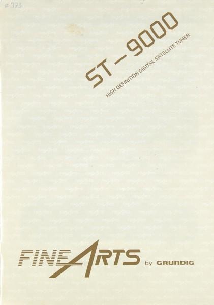 Fine Arts / Grundig ST-9000 Bedienungsanleitung