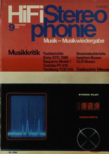 Hifi Stereophonie 9/1974 Zeitschrift