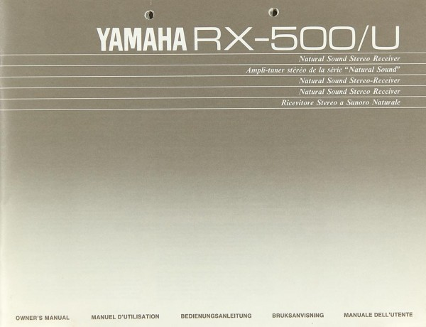 Yamaha RX-500/U Bedienungsanleitung
