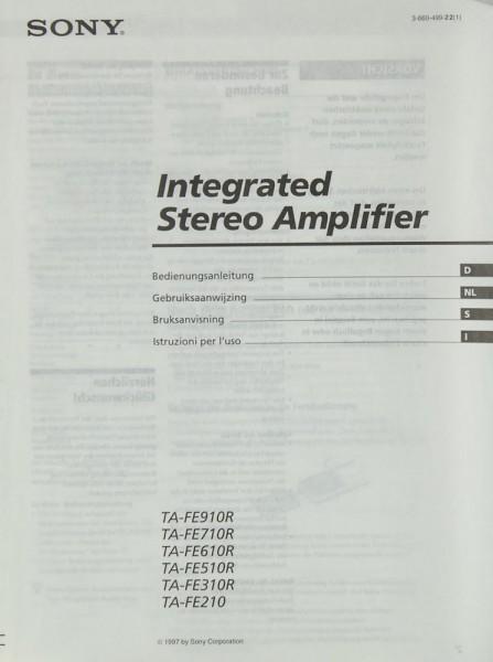 Sony TA-FE 910 R / 710 R / 610 R / 510 R / 310 R / 210 Bedienungsanleitung