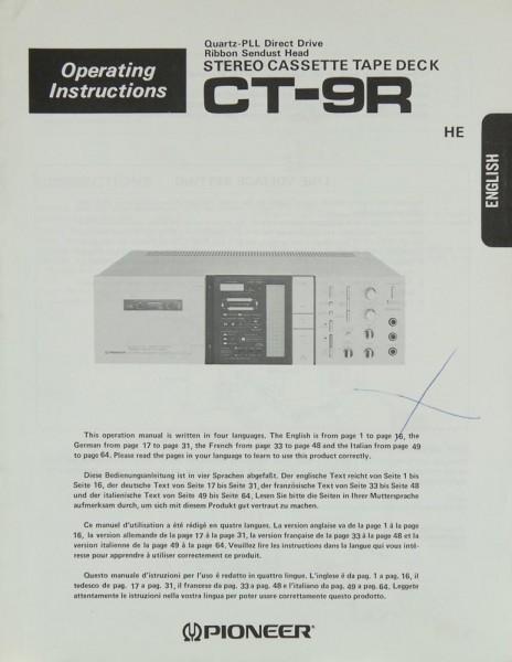 Pioneer CT-9 R Bedienungsanleitung