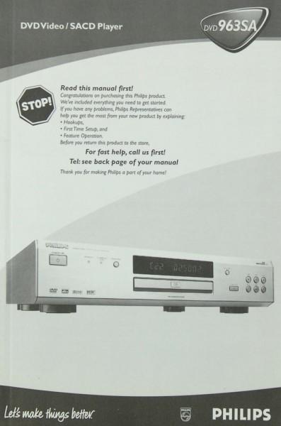 Philips DVD 963 SA Bedienungsanleitung