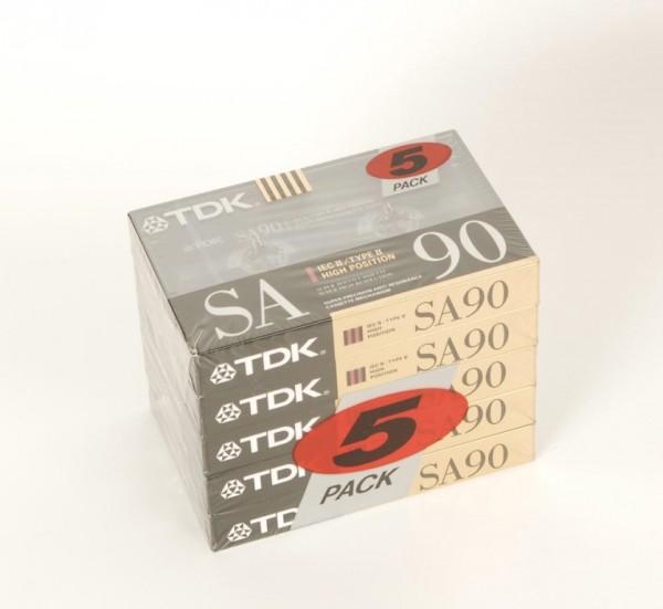 TDK SA90 5 er Pack NEU!
