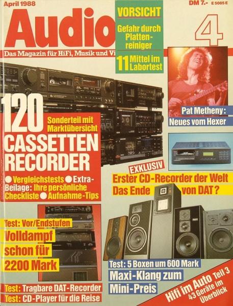 Audio 4/1988 Zeitschrift