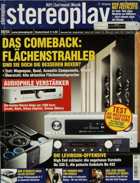 Stereoplay 9/2004 Zeitschrift