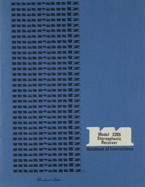Marantz 2265 Bedienungsanleitung